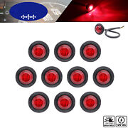 3/4 Led Mini Side Marker Lamp For Trailer Truck Bus Camper Tractor Jeep Lorry