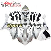 Panels For 2007 2008 Yamaha Yzf1000 Body Work 07 Yzf R1 08 Covers White Silver