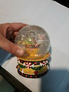 Christmas Musical Snowglobe Enesco Mouse Sleeping In Teacup We Wish You A Merry