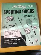 1951 Mcclurgandrsquos Sporting Goods Catalog Vintage Fishing Tackle And Equipment