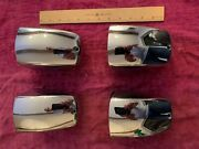 Set Of 4 Chrome Clam Shell Vent Covers Scoops Deck Mount Excellent Condition