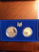 1986 Us Silver Proof Statue Of Liberty And Half Dollar