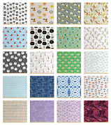 Ambesonne Soft Polyester Fabric By The Yard Decorative Upholstery Home Accents