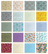 Decorative Soft Polyester Fabric By The Yard Upholstery Accents By Ambesonne