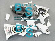 White Decals Injection Fairing Plastic Kit Fit Kawasaki Zx-6r 01 00-02 50 A5