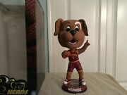 Cleveland Cavaliers Mascot Moondog Big Head Bobblehead Wine And Gold Jersey