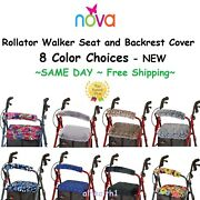 Backrest And Seat Cover For Rollator Walkers Nova And Universal Fit. Free Ship