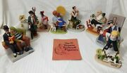 The 12 Norman Rockwell Figurines Collection, Only 8 Of 12 Figurines