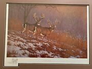 Rare Hayden Lambson Signed A/p Remarque Edition Print Masters Of Evasion 25/25