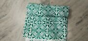 India Hand Block White And Green Fabric 100 Yard Floral 100 Cotton Floral Fabric