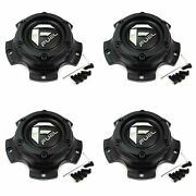4x Fuel Off-road Wheels Matte Black Wheel Center Hub Caps 6od Snap-in For 5x150