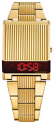 New Bulova Computron Red Led Digital Retro Stainess Steel Menand039s Watch 97c110