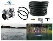 1/2hp Rocking Piston Large Pond Aerator Kit W/50' Wtd Hose And 2-4' Ring Diffusers