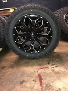 5 20x9 Fuel D576 Assault Black Wheels 275/55r20 Tires Package Toyota Tundra