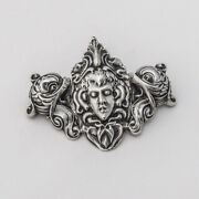 Large Figural Douvaine Brooch Sterling Silver Unger Brothers 1900s