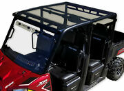 Spike Tinted Poly Roof 2013-2020 Polaris Ranger Crew Full Size W/ Profile Tubing