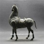 Collect China Copper Bronze Old Feng Shui Success Animal Horse Steed Figurine