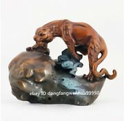 Copper Bronze Modern Decoration Strong Quick Animal Leopard Panther Figurine
