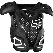 Fox 2020 R3 Adult Chest Protector Guard/deflector Black/white/flame Red 24017-