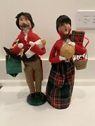 Byers Choice Ltd The Carolers Lot Of 2 Traditional Shopper 2000