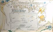 Michael K Frith Spring Frolic Garden Party Hand Done Orig Cartoon Drawing 1972