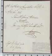 C150 Beaumont Hotham 1836 Signed Letter East Riding Conservative Society England