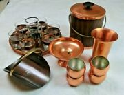 Coppercraft Guild Set Bowl Cups Tray Moscow Mule Punch Holiday Entertainment Set