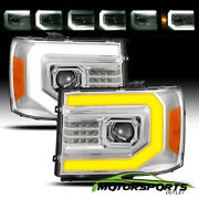 [sequential Signal/drl] For 2007-2013 Gmc Sierra Chrome Projector Headlights