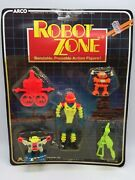 Vintage Arco Robot Zone Bendable Bendy Space Toy Robots Pack Moc Sealed 1985