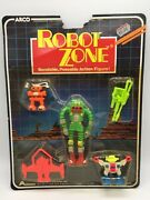 Vintage Arco Robot Zone Bendable Bendy Space Toy Robots Pack Moc Sealed 1985 2