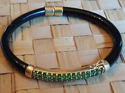Ladies Onyx And Gold Bracelet Emerald And Onyx 14 Ct Gold