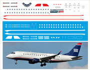 1/144 Pas-decals. Revell. Embraer 170 Us Airways Express
