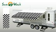 62718 Rv Awning Replacement Fabric 18and039 Actual Width 17and0392 Checkered Flag