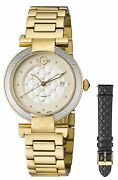 Gv2 By Gevril Womenand039s 1501 Berletta Diamond Gold Ip Stainless Steel Date Watch
