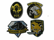 Metal Gear Solid Cosplay Airsoft Iron On Patch - Set Of 4 Embroidered Badges