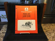 1970's Vintage Allis Chalmers Model 610 3 Point Chisel Plow Operator's Manual-vg