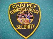 California Chaffey Community College Police Patch Shoulder Size Unused