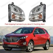 For Chevrolet Equinox 2018 2019 2020 Front Bumper Fog Lights Driving Lamps 2pc