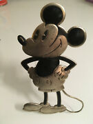 Antique English Motor Car Mascot Mickey Mouse Rare Disney Badge Sign Brooklands