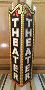 Theater Metal Cinema Theatre Poster Ticket Drive In Neon Look Game Room Man Cave