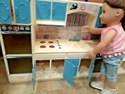 Vintage Kitchen For 18 Dolls. 1980s. Cupboards Open And Shut Look Neat