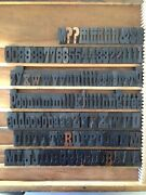 Antique Letterpress Font Wood Printing Type 128 Pc Set 10 Line Cond With Serifs