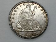 1848-o Seated Half Dollar In High End Almost Uncirculated