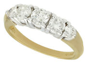 Vintage 1.00 Ct Diamond And 14k Yellow Gold Dress Ring