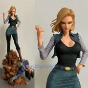 Dragon Ball Android 18 Resin Figure Green Leaf Studio Vegeta Stand In Stock New