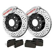 For Ford Mustang 71-73 Ss4 Plus Deep Stage Drilled And Slotted Front Brake System