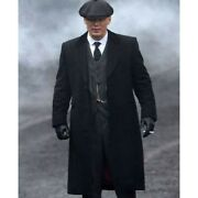 Peaky Blinders Thomas Shelby Tommy Long Coat Trench Wool Overcoat