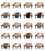 Ambesonne Sketch Pattern Table Runner Dining Room Kitchen Decor In 3 Sizes