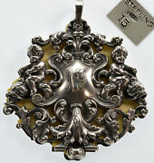 Antique Victorian William R. Kerr Sterling Cupid Dolphins Dance Book Pendant