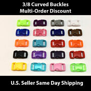 3/8 Plastic Curved Side Release Buckles For Paracord And Crafting Us Seller